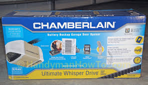 battery operated garage door opener chamberlain belt drive garage door opener review