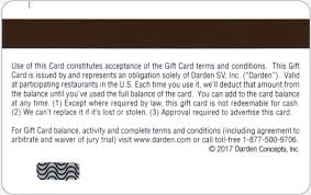 darden restaurants gift cards product detail