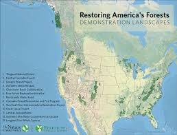 Great America Map by Restoring America U0027s Forests The Nature Conservancy