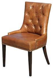 washington tufted brown leather dining chairs chair white black