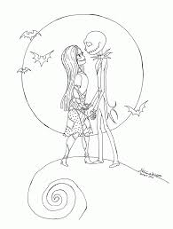 skeleton coloring nightmare before christmas characters coloring pages coloring home