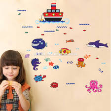 wholesale 5094 d sea wall stickers fish ship wall decals fashion 5094 d sea wall stickers fish ship wall decals fashion frosted and uv effects