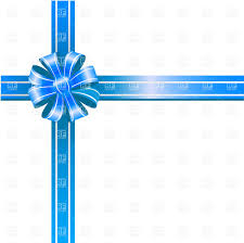 white blue ribbon blue ribbon bow on white background royalty free vector clip