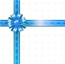 white blue ribbon blue ribbon bow on white background vector clipart image 20074
