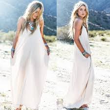 white maxi dress 2015 new european style cotton maxi dress solid color spaghetti