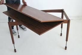 collapsing dining table coffee table to dining table transforming metal collapsing dinner