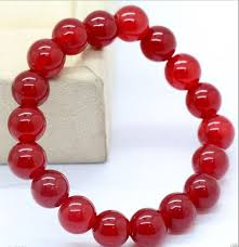 red beads bracelet images Charming 10mm natural red jade round beads bracelet aaa 7 5 quot ebay jpg