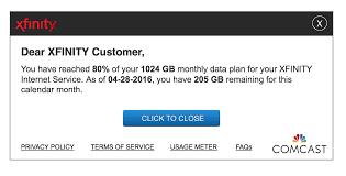 comcast home internet plans xfinity data usage center faq