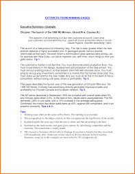 Executive Summary Example For Resume by Executive Summary Of Your Resume Free Resume Example And Writing