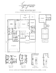 bill clark homes floor plans westbury u2013 brunswick forest