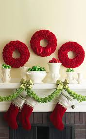 christmas fireplace garland e2 80 93 on the mantel or above