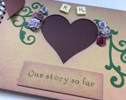 personalized scrapbook personalised scrapbook album vintage wedding anniversary memory