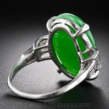 jade engagement ring deco jade and diamond platinum ring