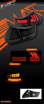 lexus indicator lights smoked black 3d stripe bar led light with sequential