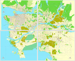Canada City Map by Vancouver Exact Map V 3 09 Printable City Plan Map In 4 Parts Of