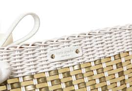 kate spade white and gold wicker white leather havana lawn chair