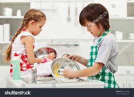 grumpy kids doing home chores on stock photo 179877989 shutterstock