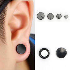 black ear studs titanium black costume earrings ebay