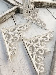 White Wall Shelves With Brackets White Polished Cast Iron Wall Brackets Of Magnificent Decorative