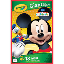 crayola giant coloring pages mickey mouse walmart com