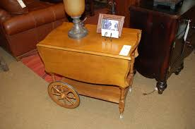 drop leaf end table maple tea cart w wheels and drop leaf second impressions home