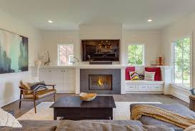 built in cabinets around fireplace beautiful living rooms with built in shelving
