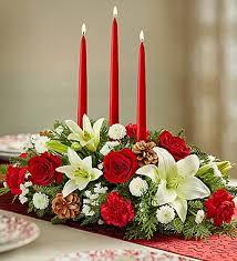 christmas centerpieces traditional christmas centerpiece 1800flowers 90669