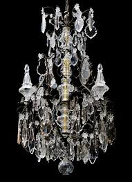Crystal And Bronze Chandelier French Louis Xv Crystal And Bronze Antique Chandelier