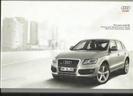 audi q5 brochure audi q5 se s illustrated prices and specification sales brochure
