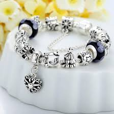 bracelet with heart images European charm bracelet with heart for women 3 designs jusgift jpg