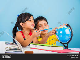 indian boy studying globe on image u0026 photo bigstock