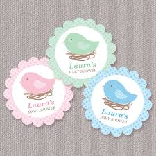 bird baby shower personalized bird nest baby shower cupcake toppers favor tags or