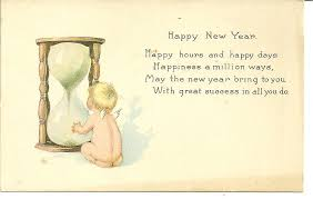 new year post card whispers from the past vintage postcards tell a story vintage new