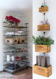 How To Decorate A Bakers Rack Making My Home Holiday Ready Driven By Decor