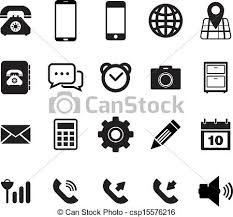 phone icon mobile phone icon set for your design vector clip art search