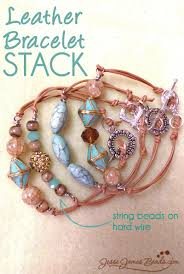 make bracelet beading wire images Diy leather bracelet how to jesse james beads blog jpg