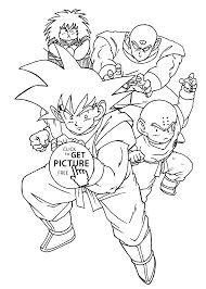 manga dragon ball z coloring pages for kids printable free