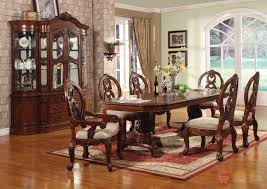 traditional living room set wooden dining table armless brown