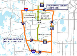 Mn Dot Traffic Map Start Planning Now Part Of Highway 169 Is Closing Until September