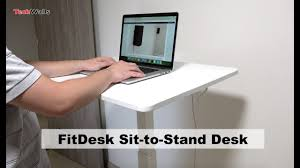 Electronic Height Adjustable Desk by Fitdesk Sit To Stand Height Adjustable Desk Unboxing U0026 Testing