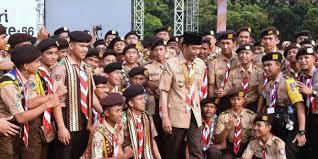 profil sosok jokowi sosok di balik foto jokowi dan anggota pramuka dream co id