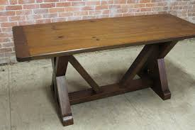 Old Pine Furniture Old Pine X R Trestle Table With Bench Lake And Mountain Home