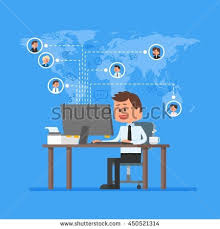 Work Home Design Jobs Remote Team Working Concept Work Home Stock Illustration 450521314