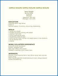 resume exles high school high school resume skills exles embersky me