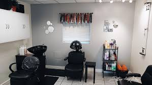 hair salon accent wall adix painting