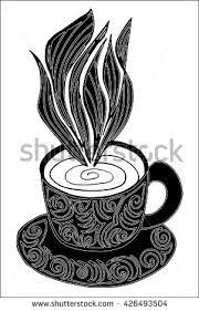 vector coffee tea cup abstract ornaments stock vector 427745836