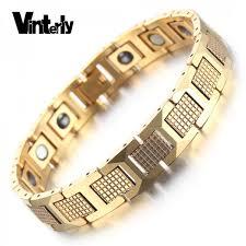 bracelet bangle men images Vinterly trendy gold color chain link bracelet men health energy jpeg