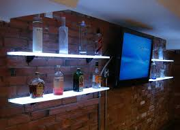 led lighted bar shelves bar wall shelves attractive amazing deal the lodge mantel mounted