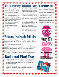 National Flag Of Canada Day February 2017 Hp Newsletter école Heather Park Elementary Parent