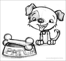 puppy sketch dani jones